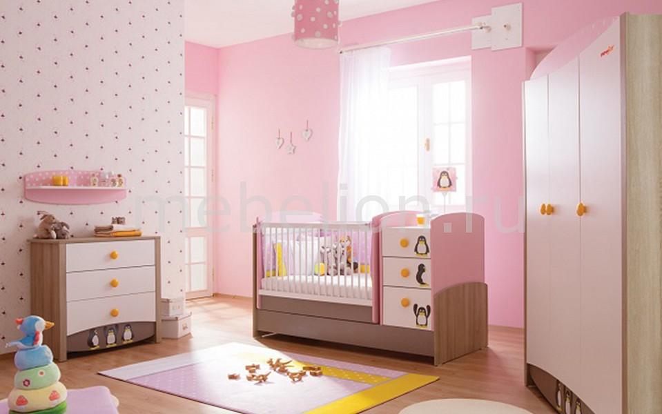 Гарнитур для детской Pink Peny коричневый/белый/розовый/серый
