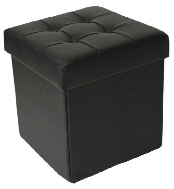 Пуф Dreambag Черный пуф 370 370 440мм цветы
