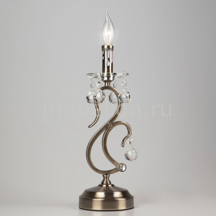 Настольная лампа Eurosvet 12505/1T античная бронза Strotskis 12505