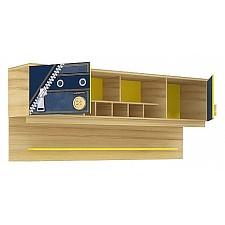 Полка навесная Любимый Дом Джинс 507.200 сантана/джинс/желтый бриллиант