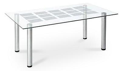 Стол журнальный Мебелик Робер 11М металлик
