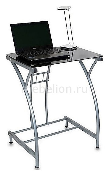 Стол компьютерный GD-002 стелянный черный