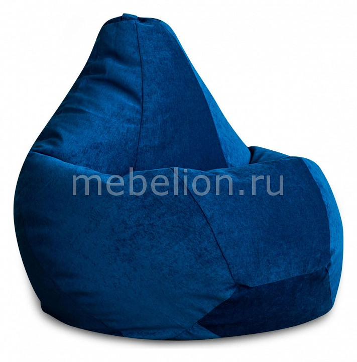 Кресло-мешок Синий Микровельвет XL