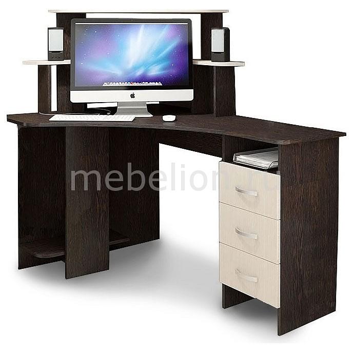 Стол компьютерный Мебель Трия угловой Бумеранг-3Н(М) венге цаво/дуб молочный