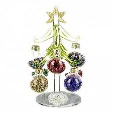Ель новогодняя с елочными шарами (13 см) ART 594-093