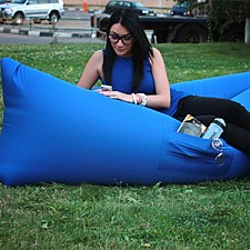 Лежак надувной Airpuf Синий