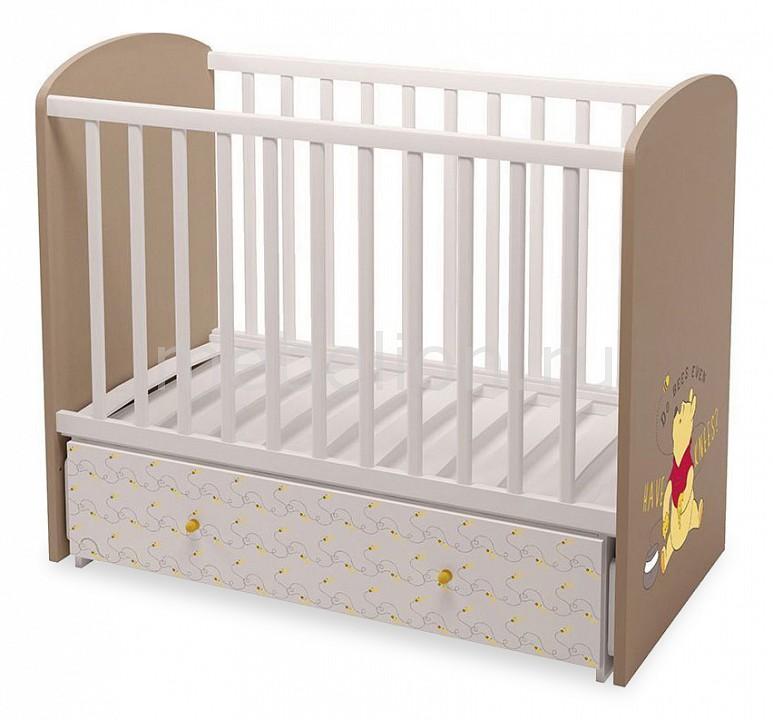 Кроватка Polini Polini kids Disney baby 750 шкаф трехсекционный polini kids disney baby медвежонок винни и его друзья белый макиато