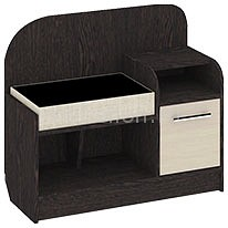 Мебель Трия Тумба для обуви Т1 Арт (мини) венге цаво/дуб белфорт тумбочка мебель трия прикроватная токио пм 131 03 см дуб белфорт венге цаво