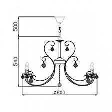 Подвесная люстра Maytoni ARM270-12-R Elegant 8