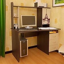 Стол компьютерный Студент-Класс (М) венге цаво/дуб молочный с рисунком