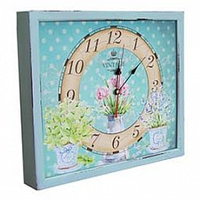 Настенные часы (34х30 см) Кувшин с цветами 3034-18
