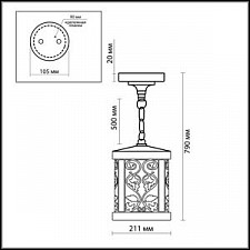Подвесной светильник Odeon Light 2286/1 Kordi