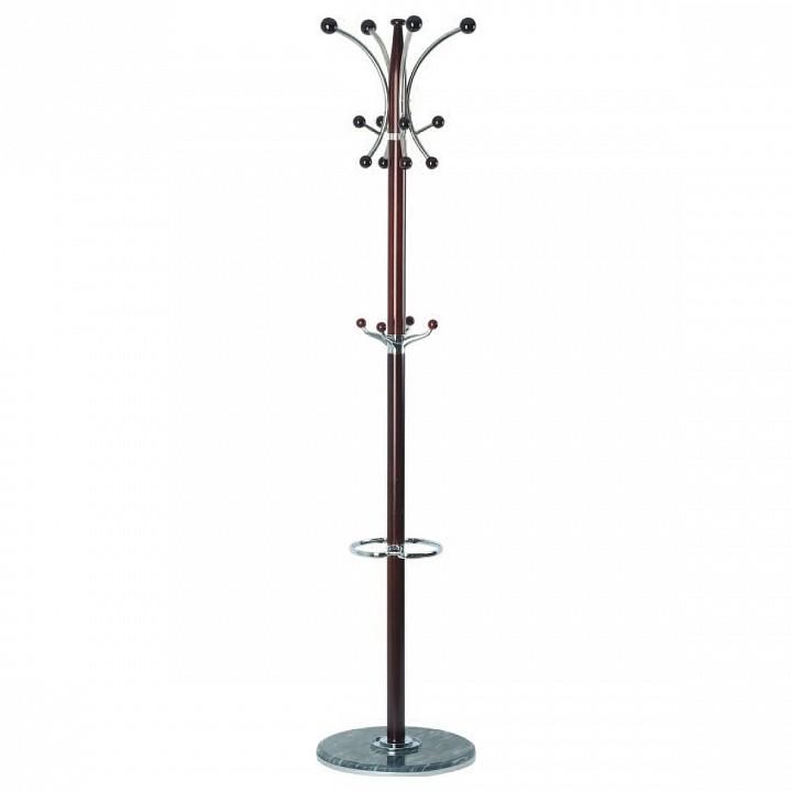 Вешалка-стойка XY-028 темно-коричневый/хром