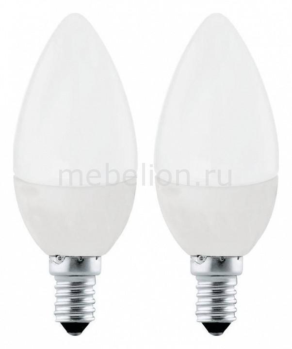 Набор из 2 ламп светодиодных Eglo С37 Valuepack E14 4Вт 3000K 10792 лампа светодиодная eglo p45 e14 4вт 3000k 11419