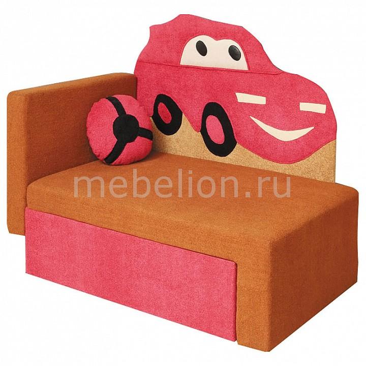 Диван-кровать Соната М11-4 Машинка 8021127 коричневый/розовый