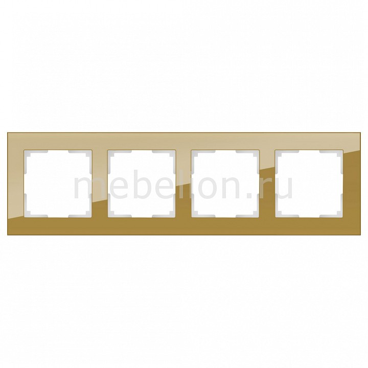 Рамка на 4 пост Werkel Favorit WL01-Frame-04 werkel рамка favorit на 4 поста серый werkel wl01 frame 04 4690389061288