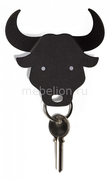 Ключница (8.8х9 см) Qualy QL10152-BK  купить прикроватную тумбочку в икеа