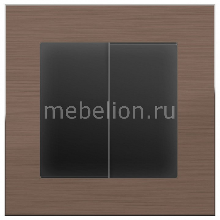 Выключатель двухклавишный Werkel без рамки Aluminium (Черный матовый) WL08-SW-2G-LED+WL08-SW-2G free shipping modern led pendant light hanging lamp bulb included aluminium painted for living bed room 90 265v 2 pieces a lot