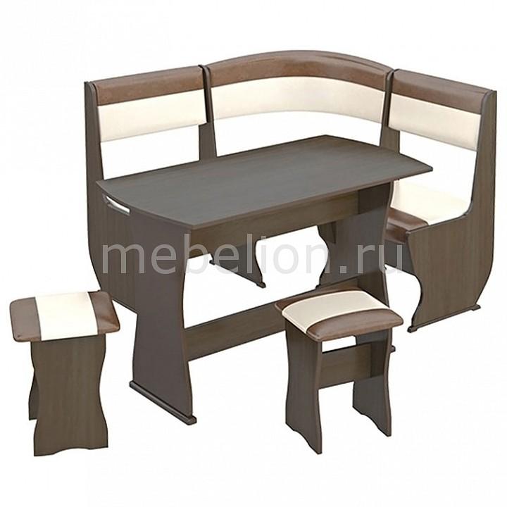 Набор кухонный Мебель Трия Уголок кухонный Уют-1 К Мини люкс венге/«Санчо»/коричневый уголок кухонный мебель трия диван кантри т1 исп 2 венге темно коричневый