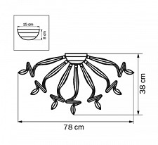 Потолочная люстра Lightstar 890094 Medusa