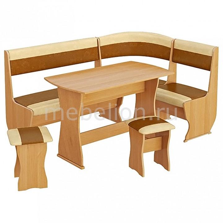 Набор кухонный Мебель Трия Уголок кухонный Уют-1 К Люкс ольха/бук/коричневый уголок кухонный мебель трия норд