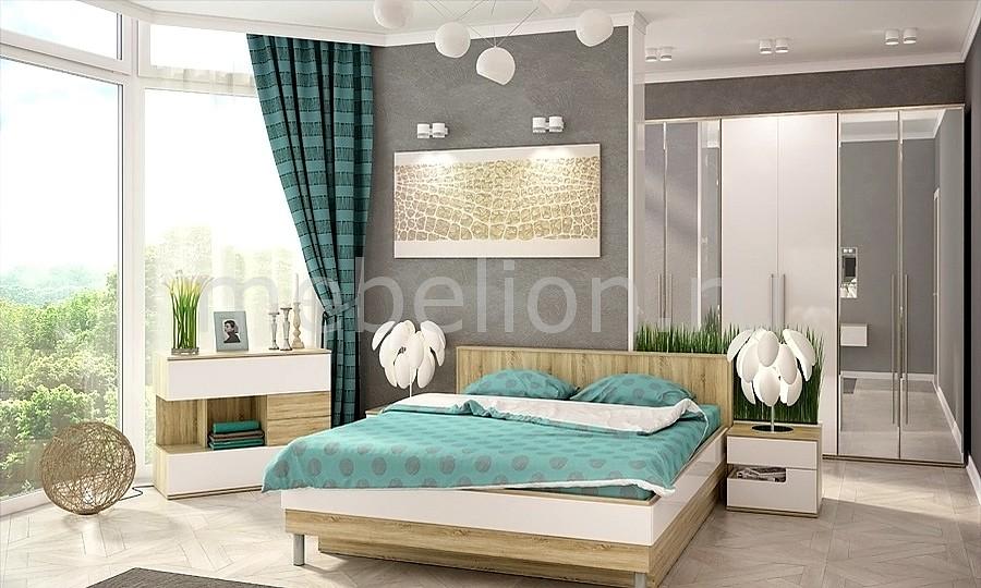 Гарнитур для спальни Ирма 13 дуб сонома/белый глянец
