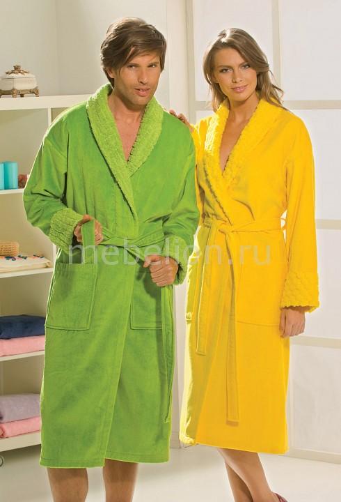Купить Халат мужской (XXL) ANGORA, HOBBY Home Collection, Турция, зеленый, хлопок 100%