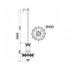 Подвесная люстра Maytoni DIA585-TT40-WG Diamant 7