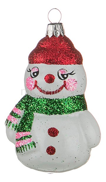 Елочная игрушка (10 см) Снеговик 860-124