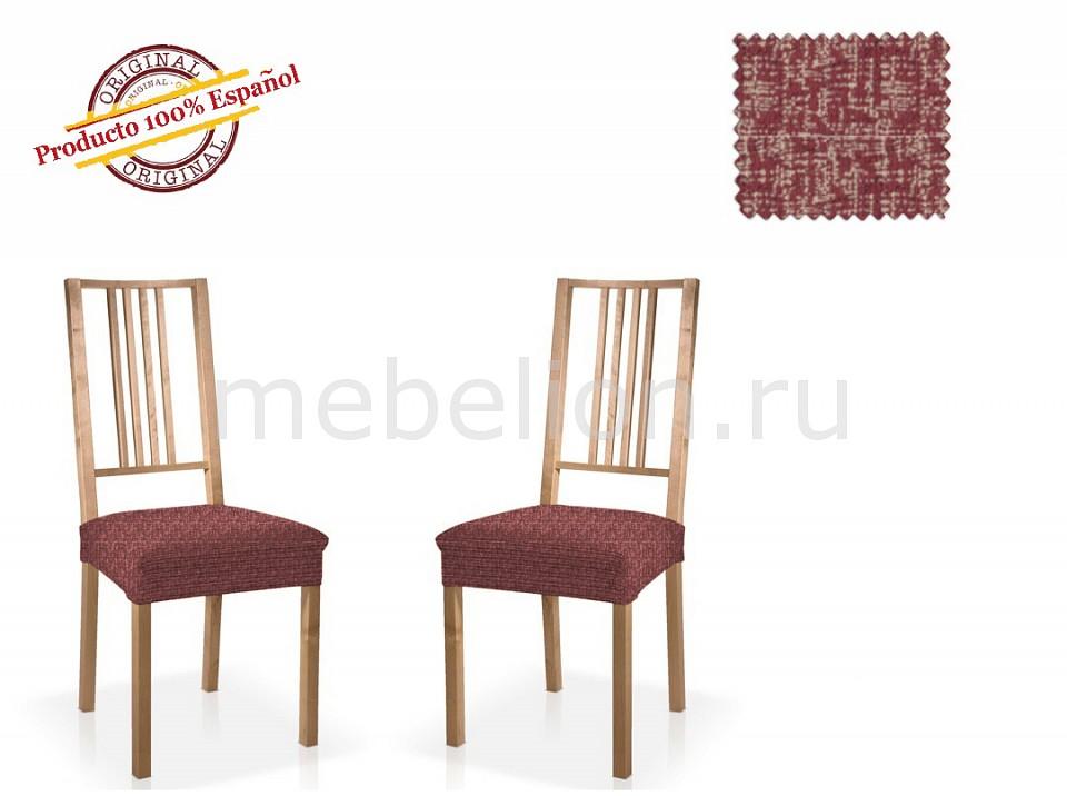 Купить Чехол для стула, Набор из 2 чехлов для стульев МАЛЬТА, Belmarti, Испания, красный, полиэстер 60%, хлопок 35%, нейлон 5%