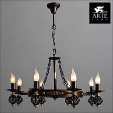 Подвесная люстра Arte Lamp A4550LM-8CK Cartwheel