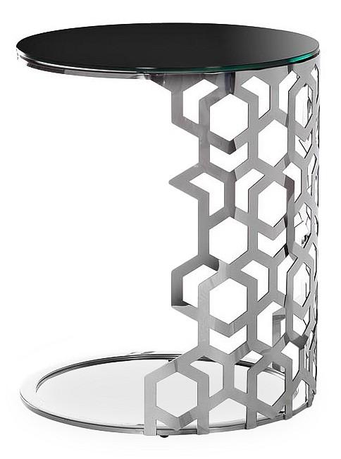 Стол журнальный Garda Decor 13RXET3043-SILVER garda decor тумба прикроватная зеркальная