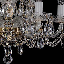 Подвесная люстра Bohemia Ivele Crystal 1402/6+3/195/G 1402