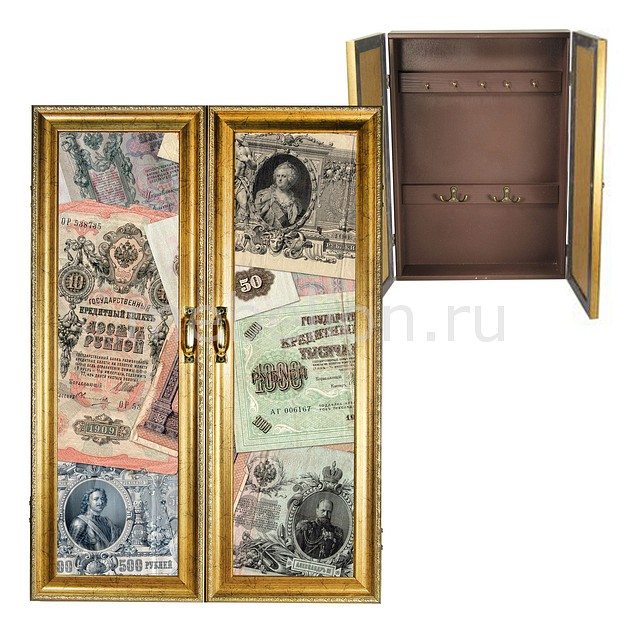 Ключница Акита (32х46 см) Старинные банкноты 311-16