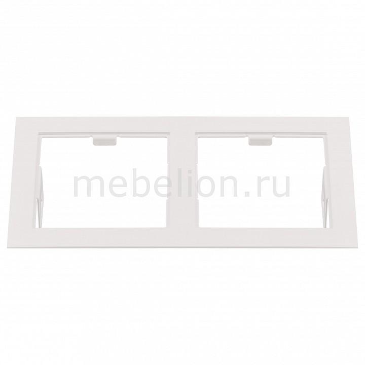 Рамка на 2 светильника Lightstar Domino 214526 салатник berossi domino twist цвет снежно белый 0 7 л
