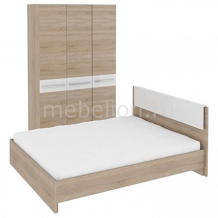 Гарнитур для спальни Ларго ГН-181.000 дуб сонома/белый глянец  т столик журнальный