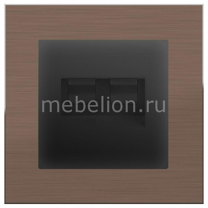 Розетка двойная RJ-11 и Ethernet RJ-45 Werkel Aluminium (Черный матовый) WL08-RJ-45+WL08-RJ11+RJ45 акустическая розетка х4 черный матовый wl08 audiox4 4690389063725