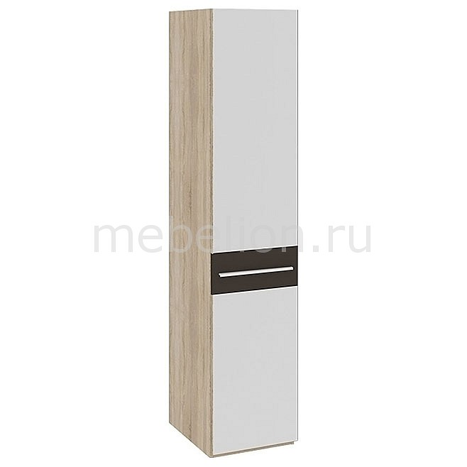 Шкаф для белья Ларго СМ-181.07.002 дуб сонома/какао глянец