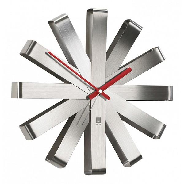 Настенные часы Umbra(31 см) Ribbon 118070-590Артикул - FD_118070-590,Бренд - Umbra (Россия),Страна производителя - Россия,Серия - Ribbon 118,Время изготовления, дней - 1,Выступ, мм - 69,Диаметр, мм - 310,Материал - металл,Цвет - серебряный,Тип поверхности - матовый,Необходимые компоненты - 1 батарейка АА,Гарантия, месяцы - 12,Масса, кг - 0.68<br><br>Артикул: FD_118070-590<br>Бренд: Umbra (Россия)<br>Страна производителя: Россия<br>Серия: Ribbon 118<br>Время изготовления, дней: 1<br>Выступ, мм: 69<br>Диаметр, мм: 310<br>Материал: металл<br>Цвет: серебряный<br>Тип поверхности: матовый<br>Необходимые компоненты: 1 батарейка АА<br>Гарантия, месяцы: 12<br>Масса, кг: 0.68