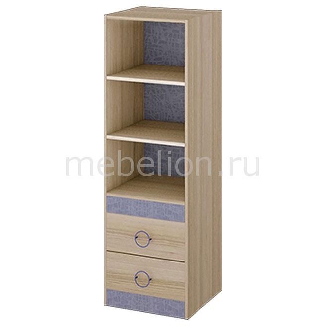 цена Стеллаж комбинированный Мебель Трия Индиго ПМ-145.08 ясень коимбра/навигатор