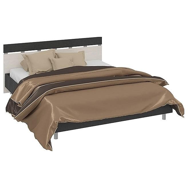 Кровать двуспальная Сити СМ-194.01.001 тексит/каттхилт