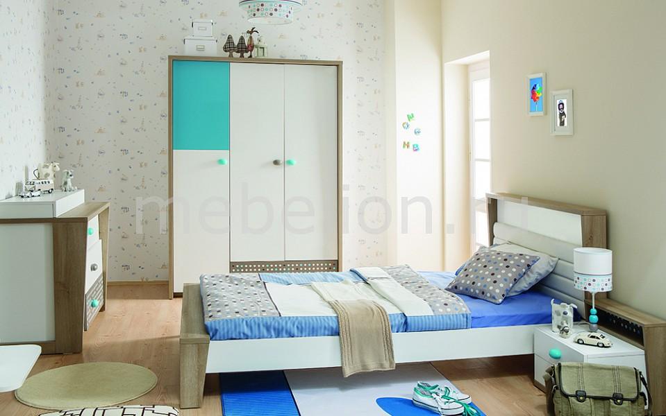 Гарнитур для детской Blue Point белый/коричневый/голубой
