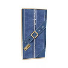 Шкаф платяной Джинс 507.010 сантана/джинс/желтый бриллиант