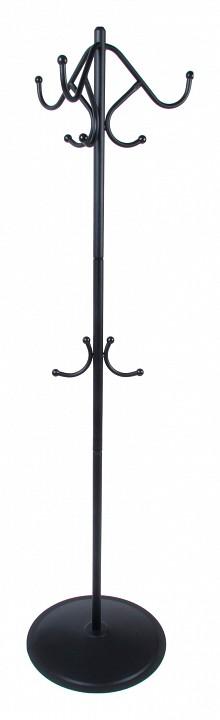 Вешалка напольная Мебелик Вешалка-стойка Пико 7 черный вешалка для одежды tatkraft karta напольная цвет белый черный высота 173 см