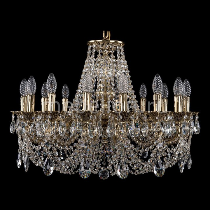 Подвесная люстра Bohemia Ivele Crystal 1702/16/C/GB 1702