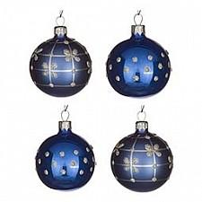 Набор елочных шаров АРТИ-М Набор из 4 елочных шаров (6 см) Классик 860-511