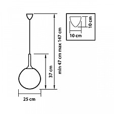 Подвесной светильник Lightstar 813033 Globo