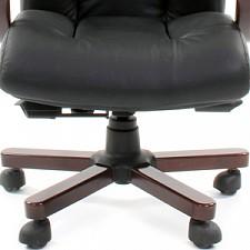 Кресло для руководителя Chairman 421 черный/орех темный, черный