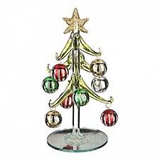 Ель новогодняя с елочными шарами (15 см) ART 594-102