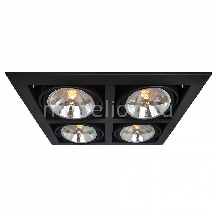 Встраиваемый светильник Arte Lamp A5935PL-4BK Cardani